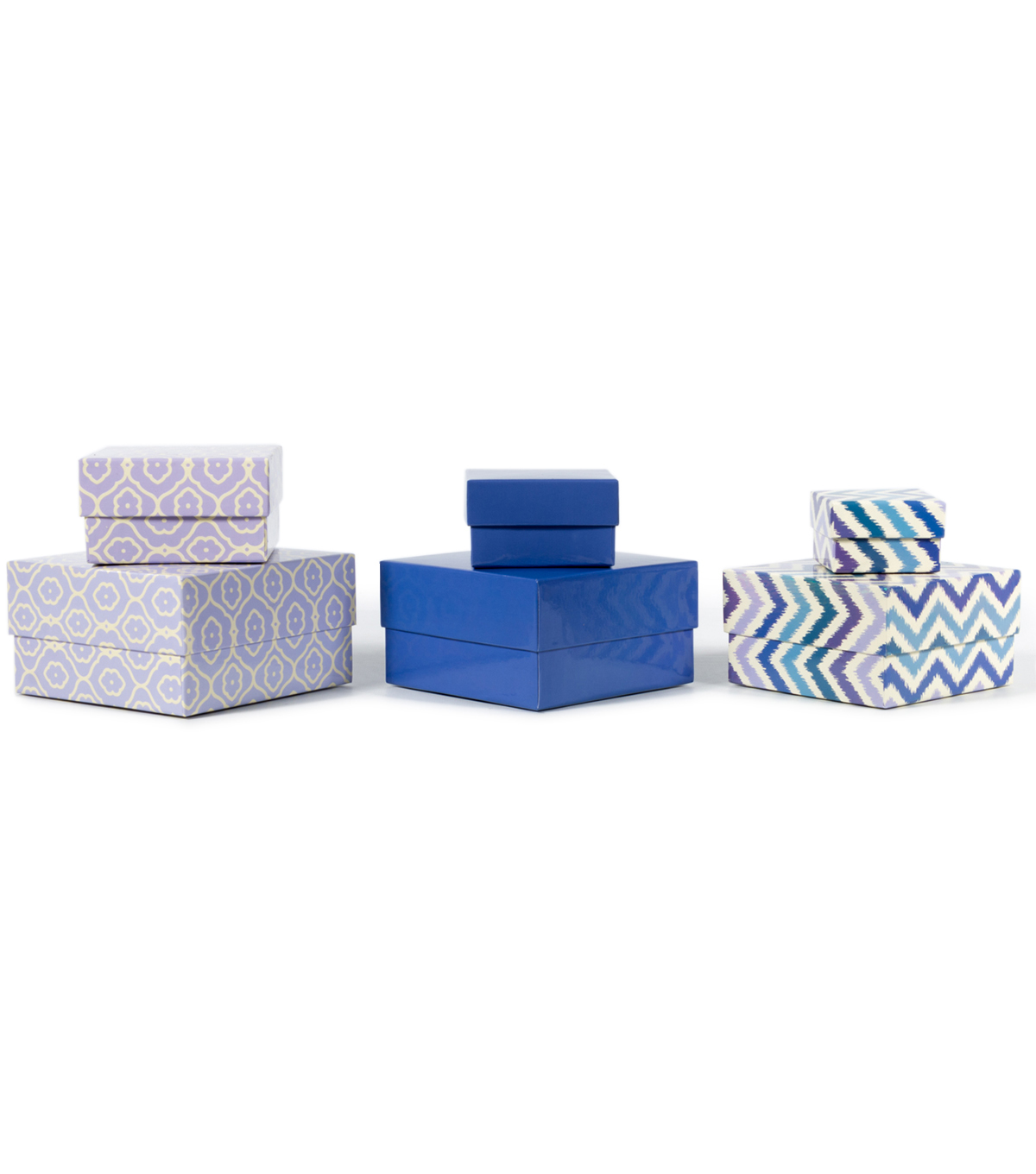 DCWV Designer Set of Nested Boxes: Purple and blue