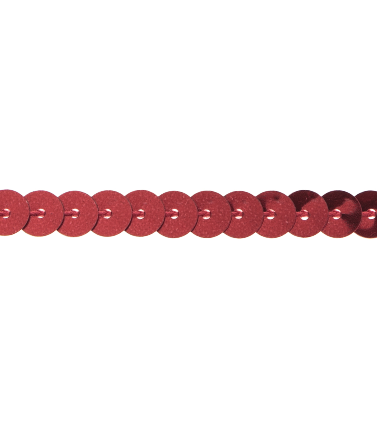 1/4\u0022 Sequin Red Apparel Trim