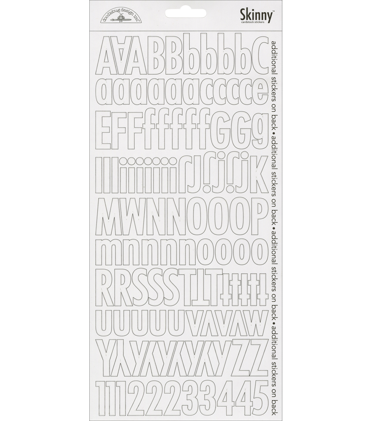 Lily White-skinny Stickers