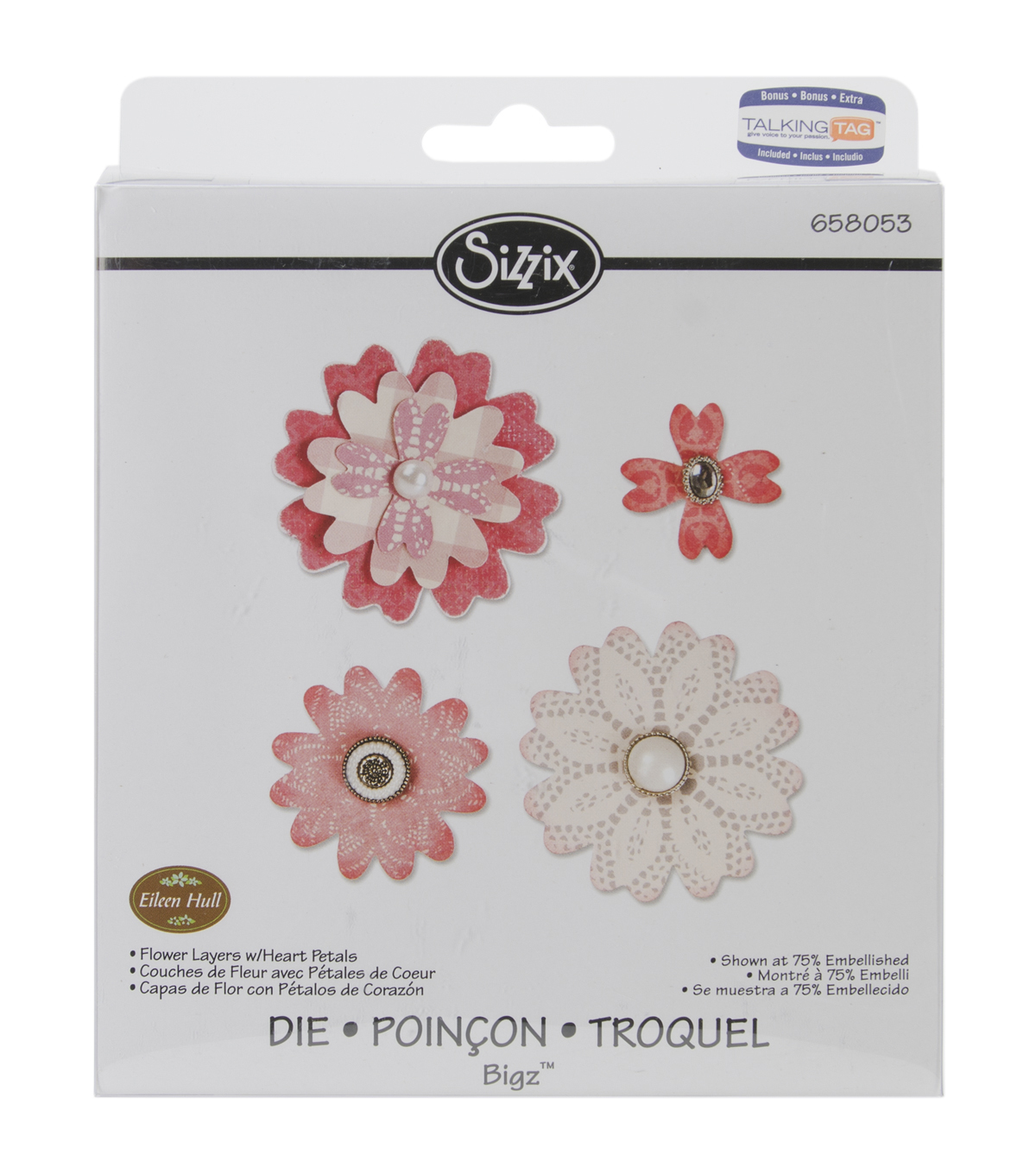 Sizzix Bigz Eileen Hull Die-Flower Layers with Heart Petals