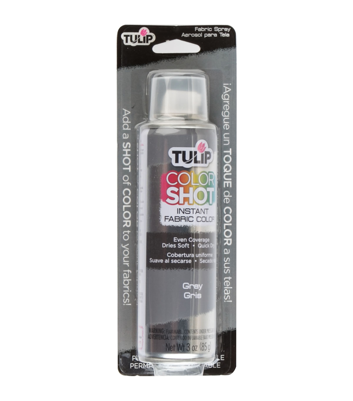 Tulip ColorShot Instant Fabric Color Spray 3oz, Gray
