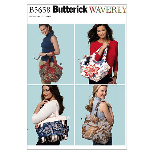 Butterick Crafts Totes & Bags-B5658