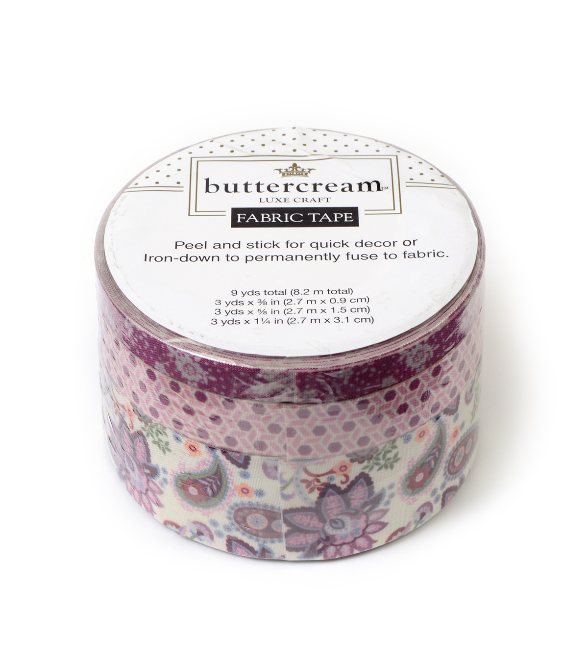 Buttercream Elizabeth Collection Fabric Tape-Paisley Blossom