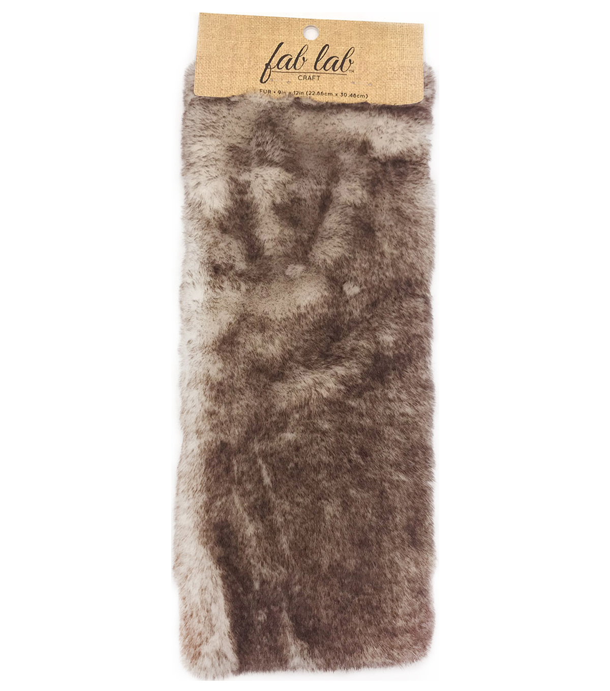Fab Lab 9\u0022x12\u0022 Craft Faux Fur-Black Tipped