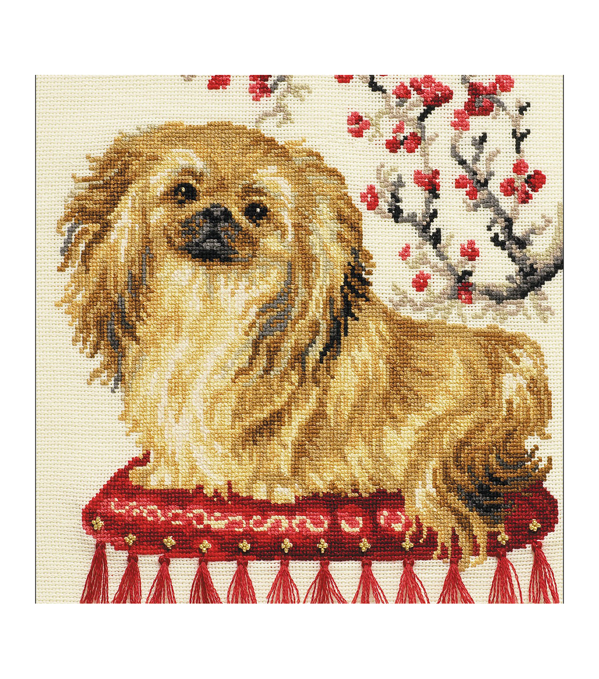 RIOLIS 9.75\u0027\u0027x9.75\u0027\u0027 15-count Counted Cross Stitch Kit-Pekinese