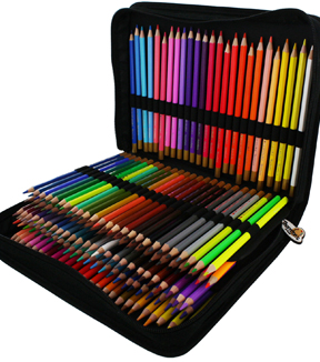 Colored Pencil Set & Zippered Case 150 Pack-Assorted