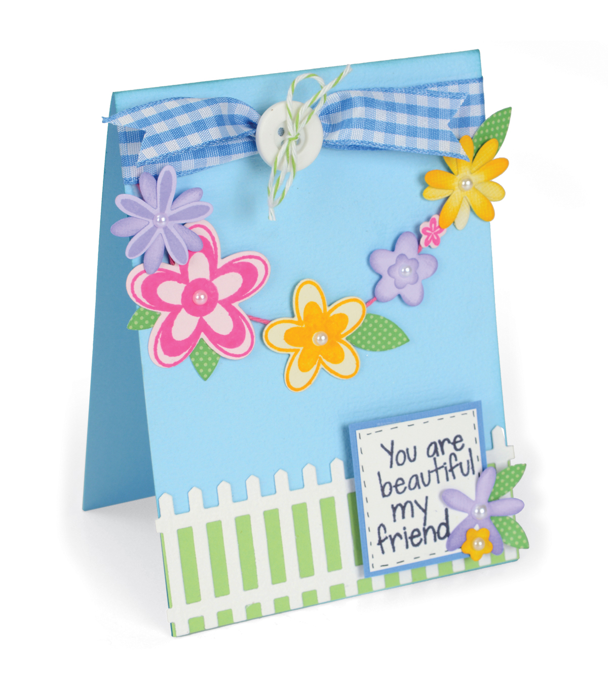 Sizzix Framelits Dies with Stamps-Flowers & Fence
