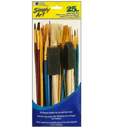 Loew Cornell Simply Art Brush Value Pack 25pc
