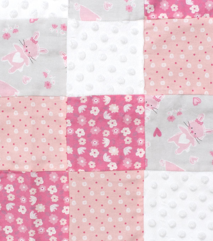 Nursery Patchwork Fabric Cute As A Bunny