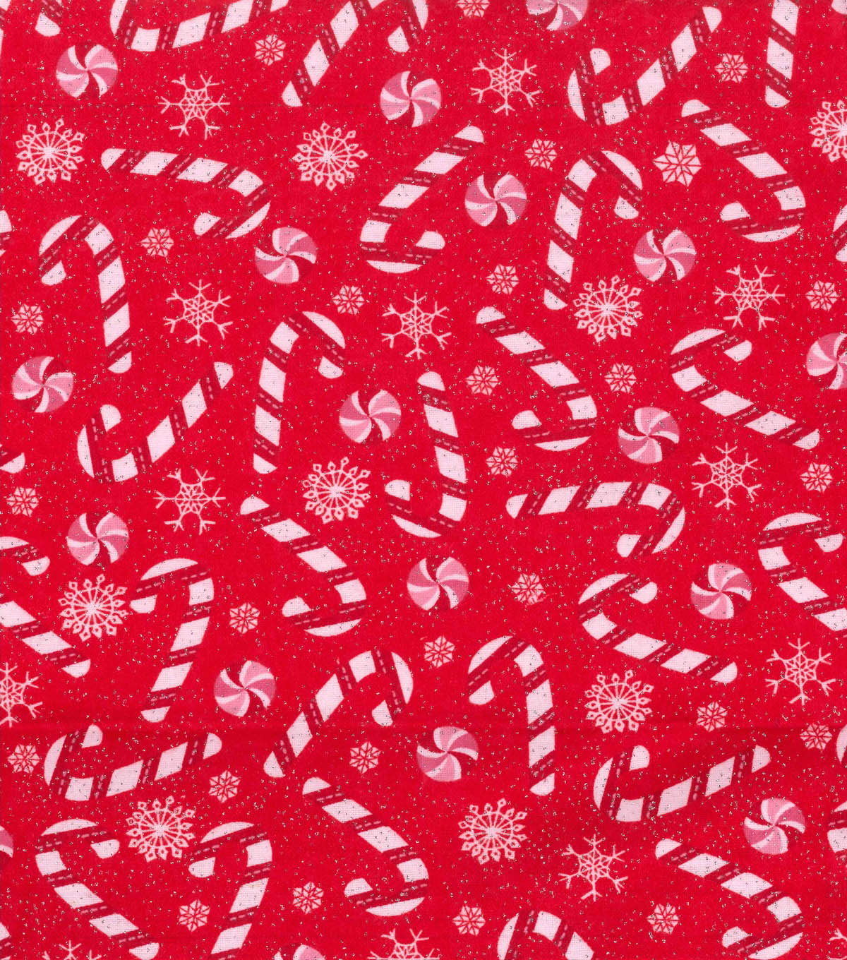 Snuggle Flannel Fabric -Candy Canes