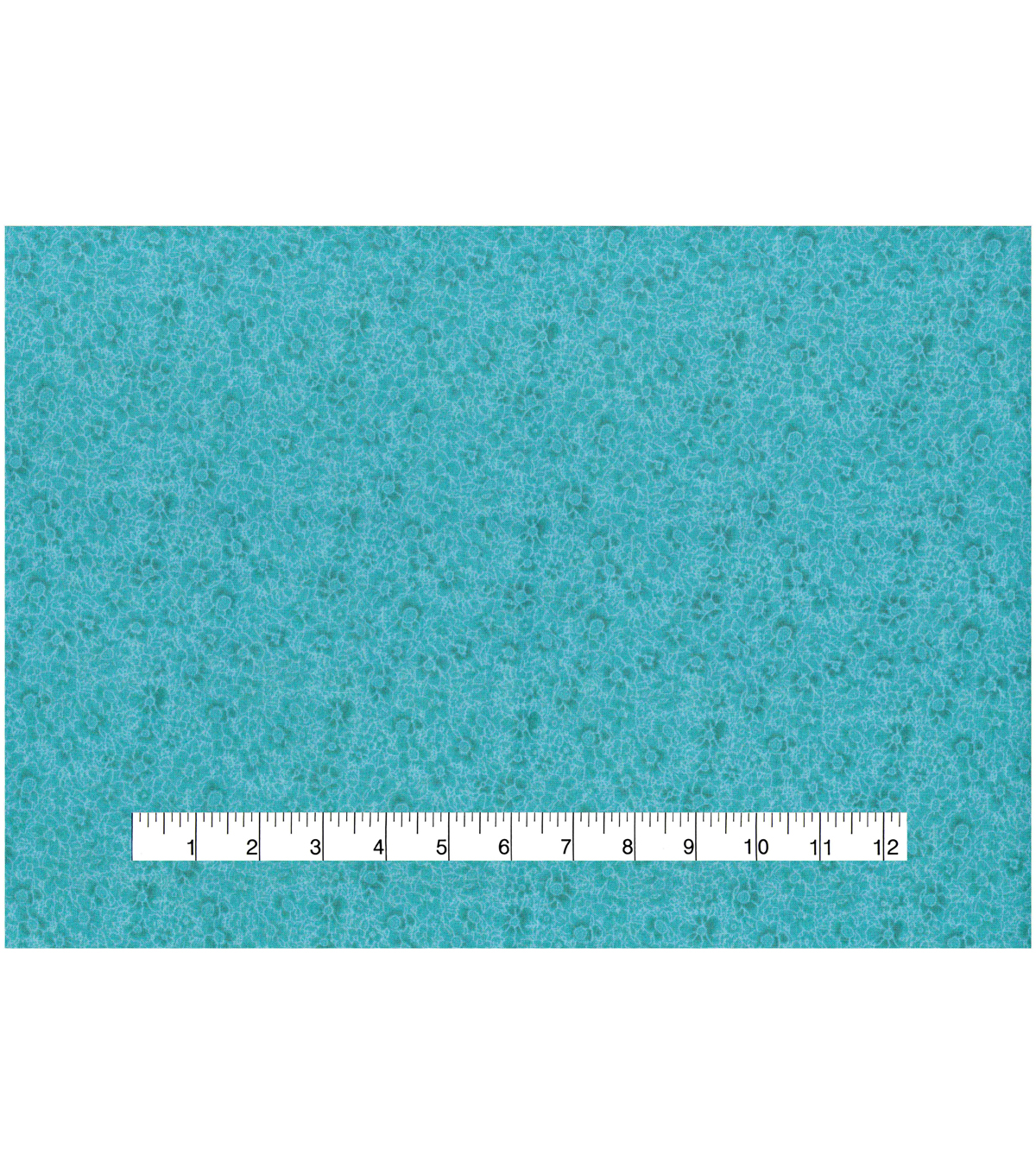 Keepsake Calico Cotton Fabric 43\u0027\u0027-Teal Packed Flowers