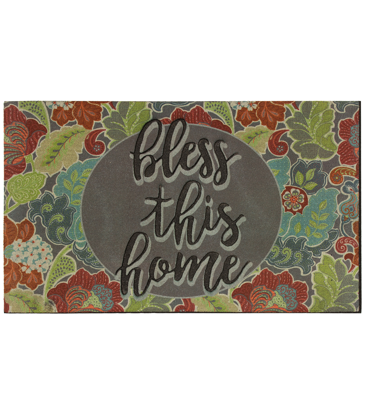 Mohawk Homes Bless This Home Jacobean Frills Welcome Doormat