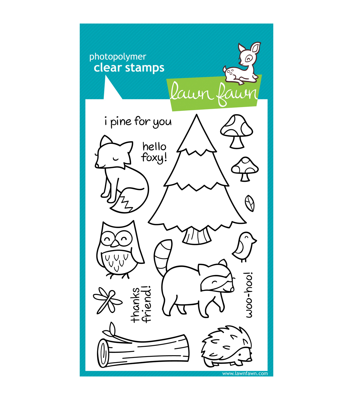 Lawn Fawn Clear Stamps 4\u0022X6\u0022-Critters In The Forest