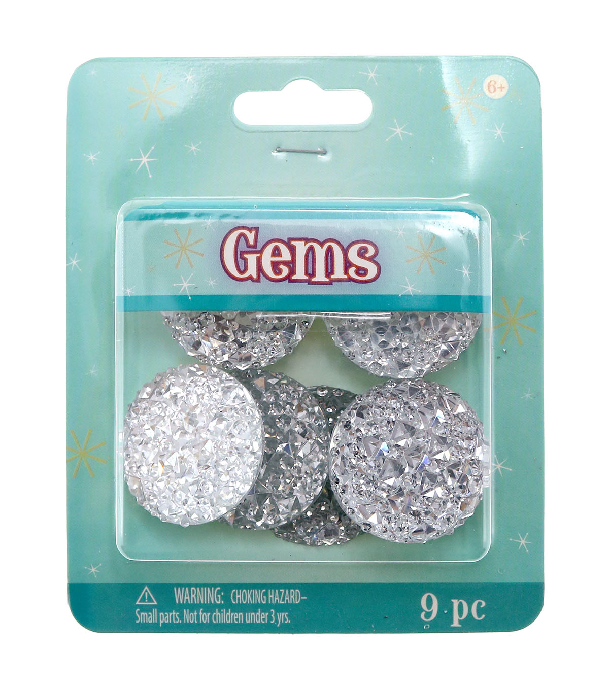 Round Faceted Gems 30mm-Crystal