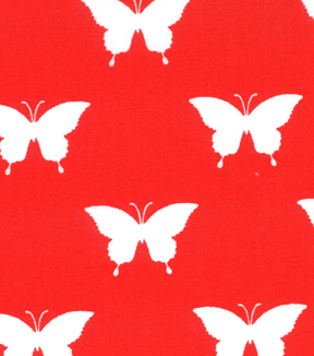 Quilter\u0027s Showcase Cotton Quilt Fabric -Butterfly Red and White