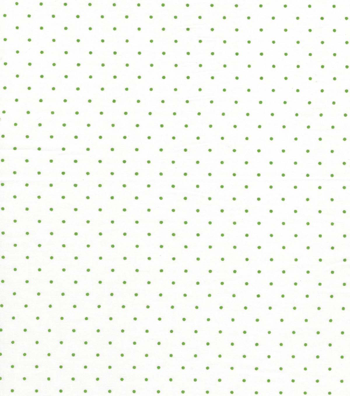 Quilter\u0027s Showcase Cotton Fabric -Kiwi Swiss Dots on White