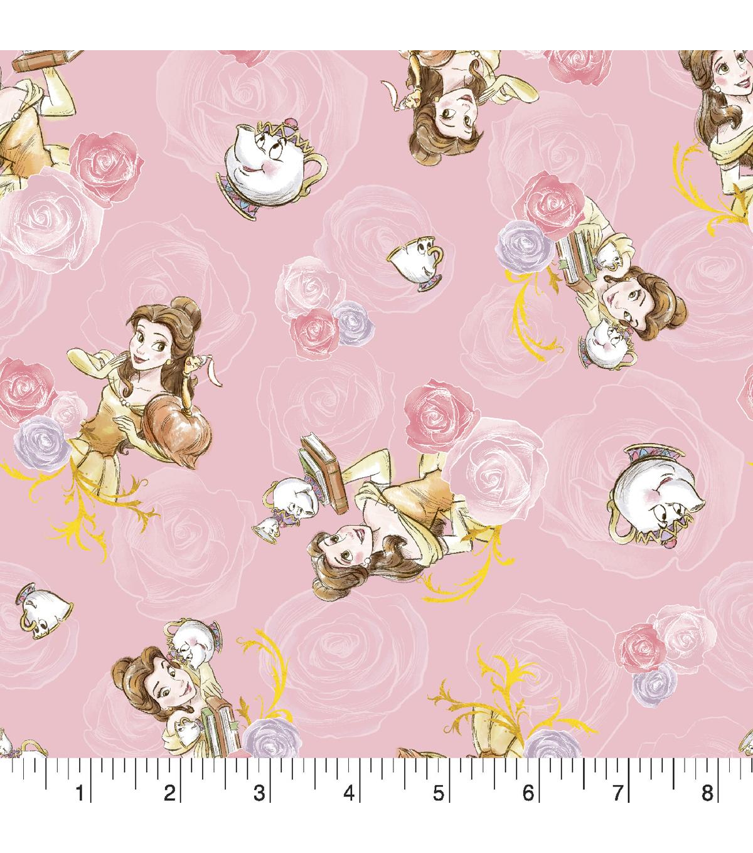 Disney Princess Knit Fabric 58\'\'-Belle & Friends   JOANN