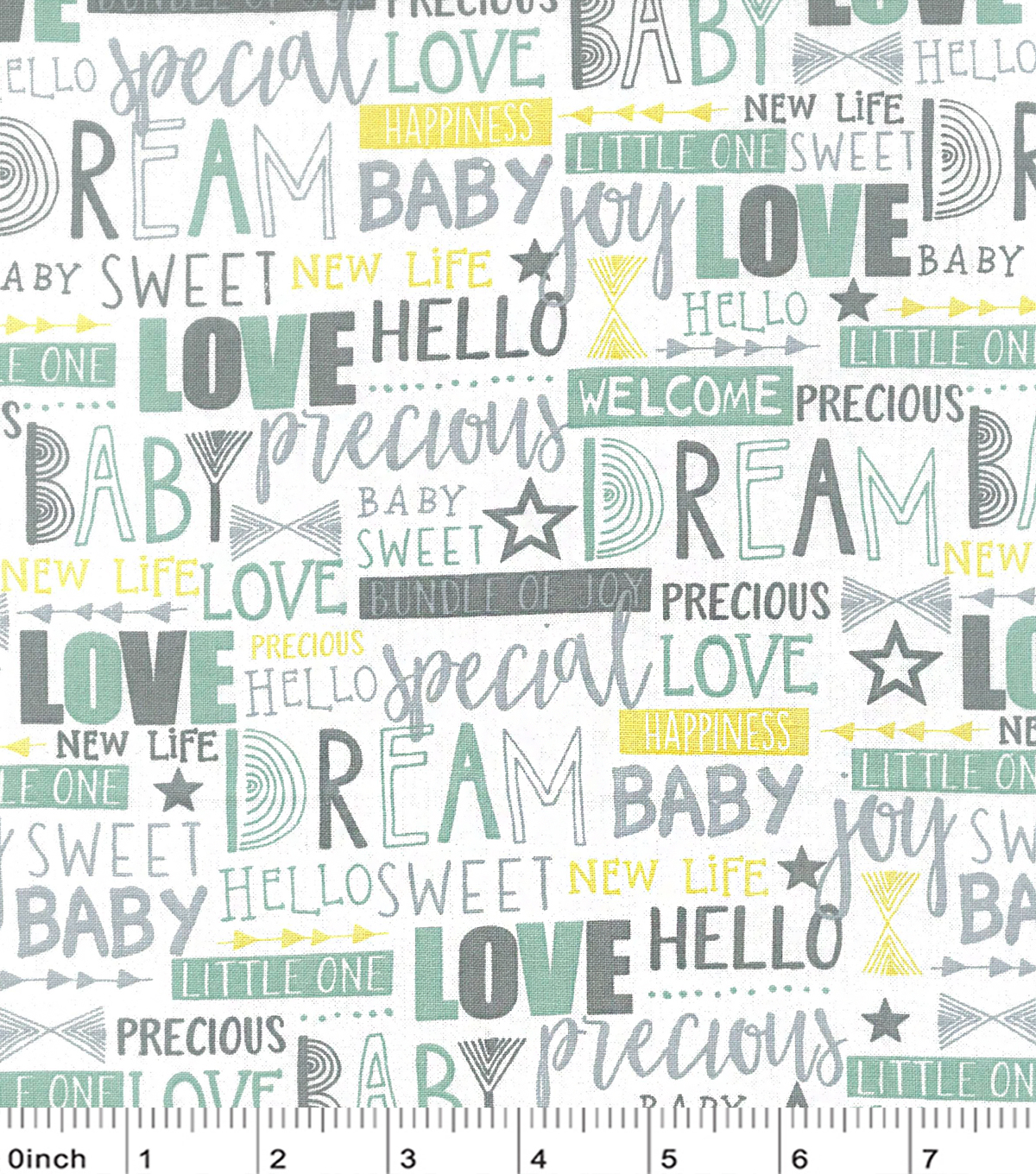 Nursery Cotton Fabric 43\u0022-Haydebaby Words