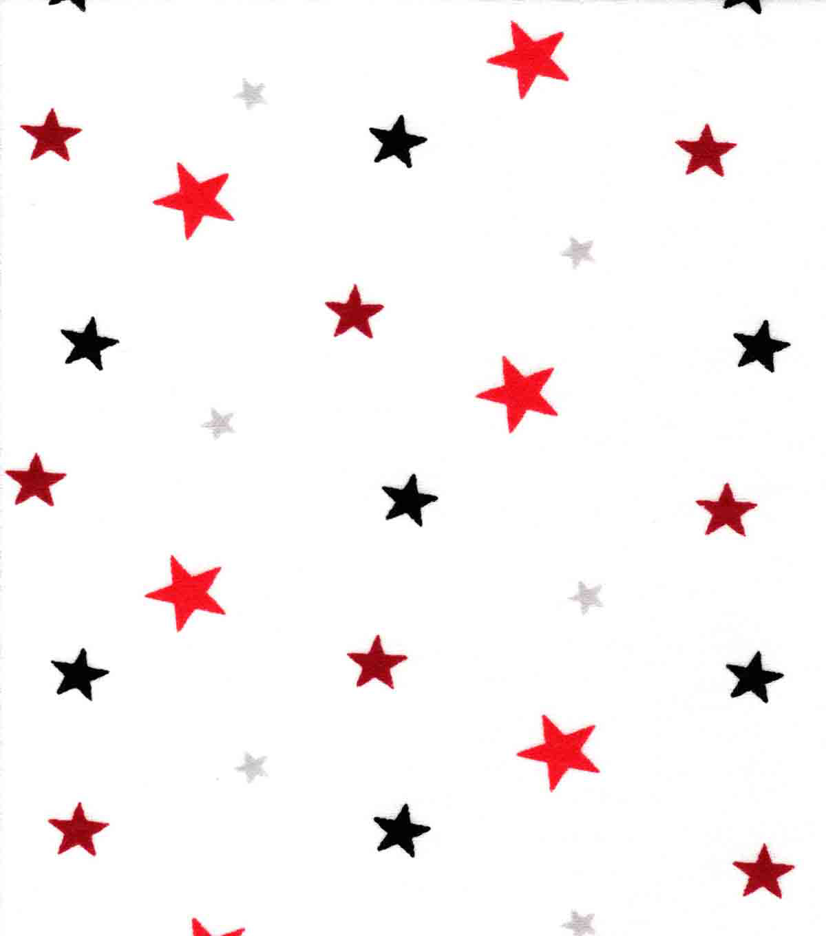 Snuggle Flannel Fabric 42\u0027\u0027-Red & Black Stars