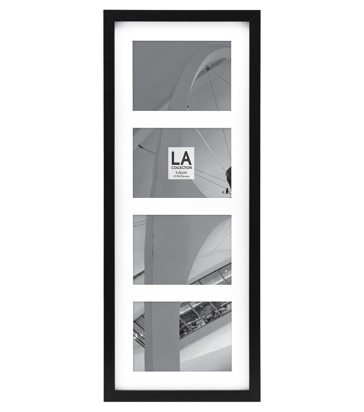 LA Collection Wall Collage Frame with 4 Openings 5\'\'x7\'\'-Black | JOANN