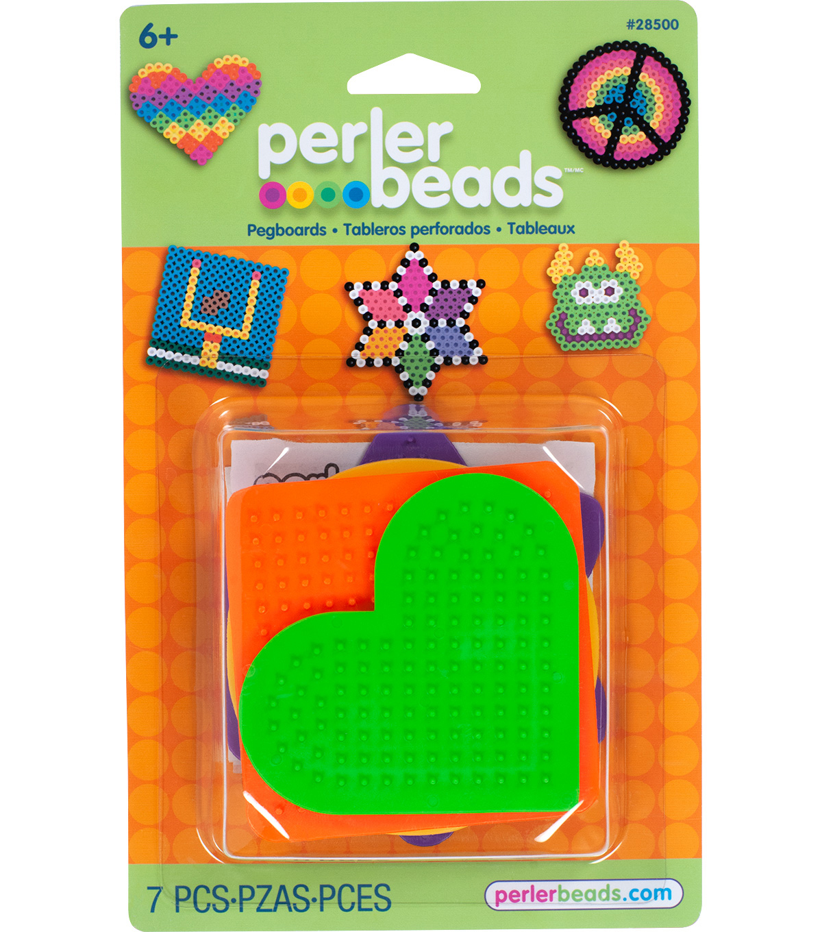 Perler Beads 7 pk Assorted Pegboards