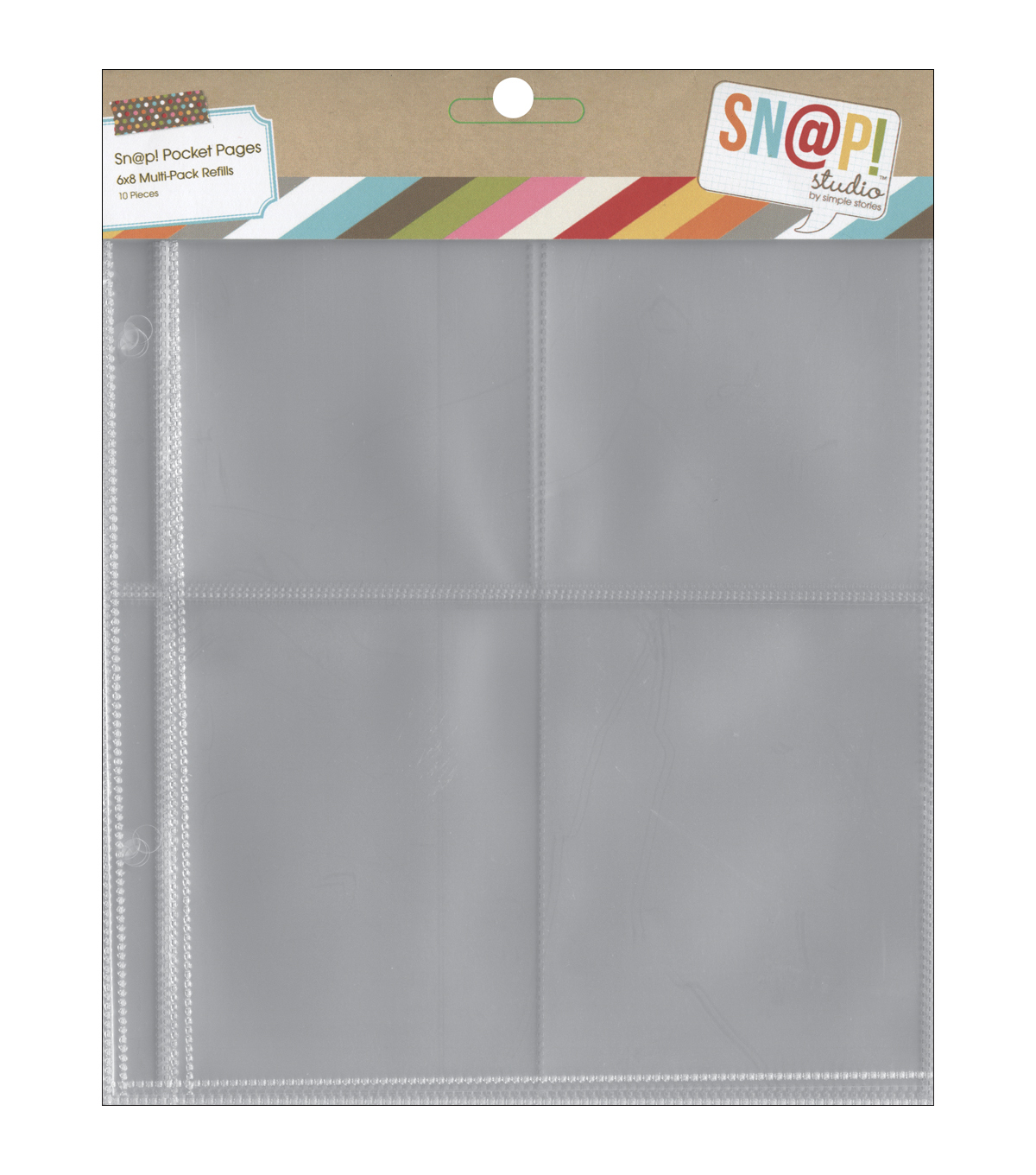 Sn@p! Pocket Pages For 6\u0022X8\u0022 Binders 10/Pkg-Variety Pack