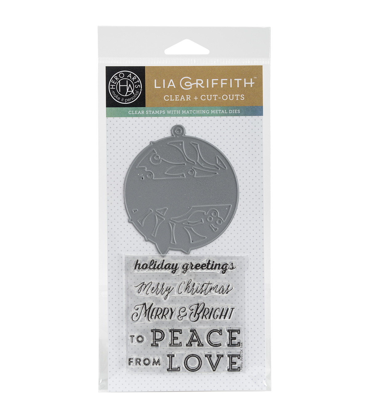 Hero Arts Merry & Bright Stamps & Cuts Tag Set