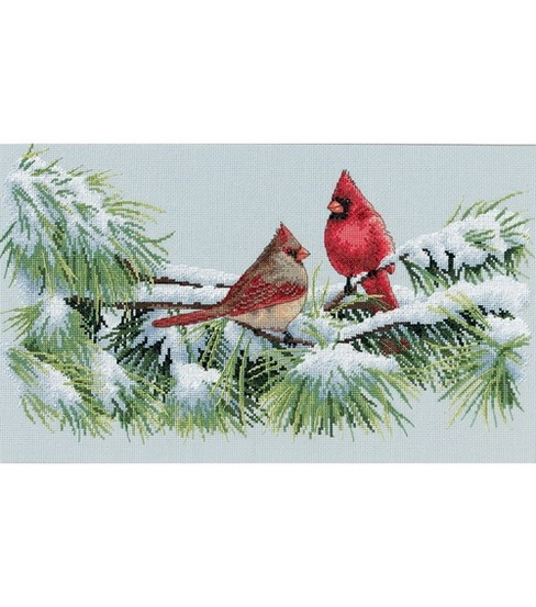Dimensions Winter Cardinals Counted Cross Stitch Kit
