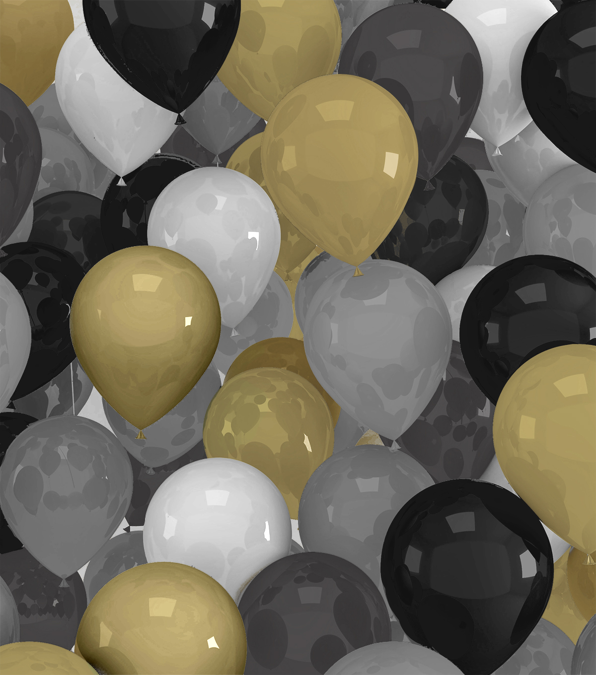 Celebration Cotton Fabric-Packed Balloon Black