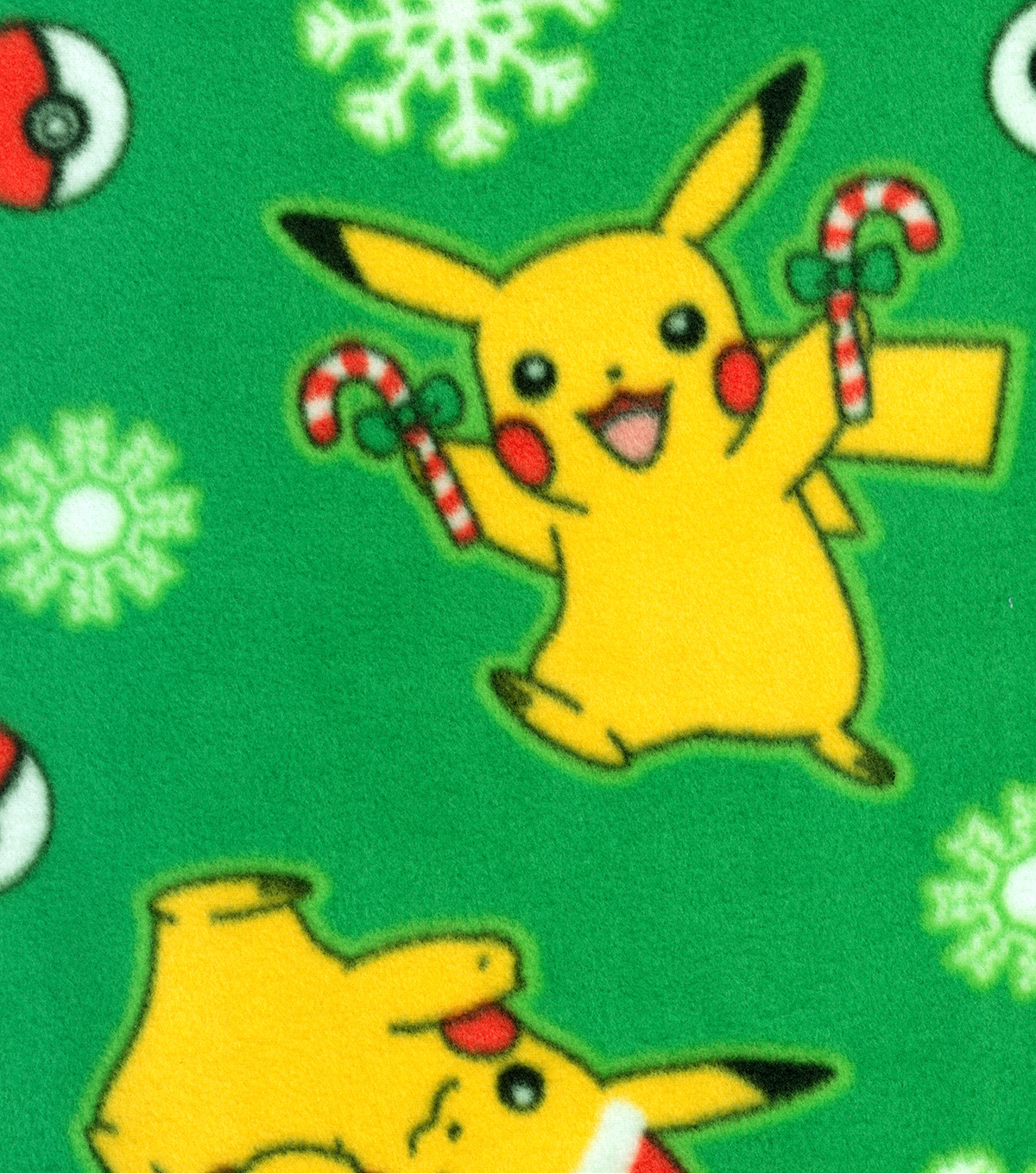 pokemon fleece fabric 60u0022 pikachu christmas - Christmas Pikachu