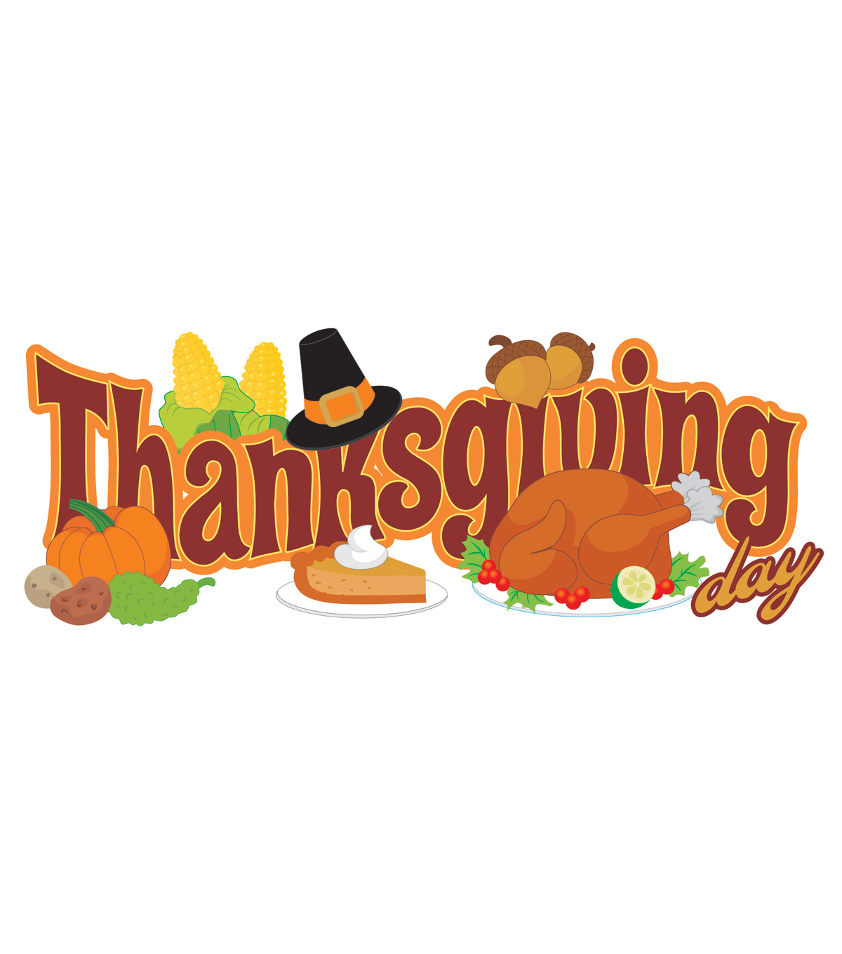 Jolee\u0027s Boutique Title Waves Dimensional Stickers-Thanksgiving Day