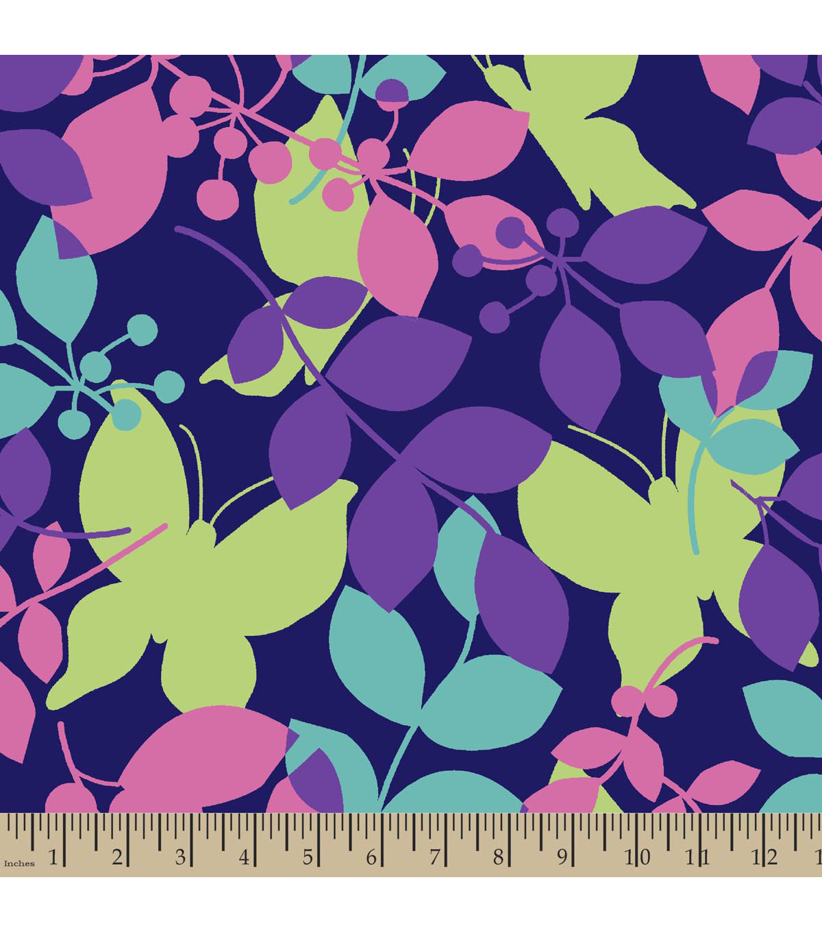 Blizzard Fleece Fabric 59\u0022-Botanical Butterfly