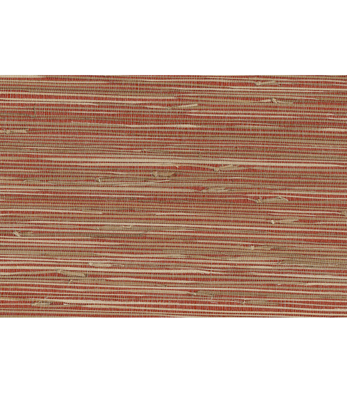 Yan Yan Red Grasscloth Wallpaper Sample