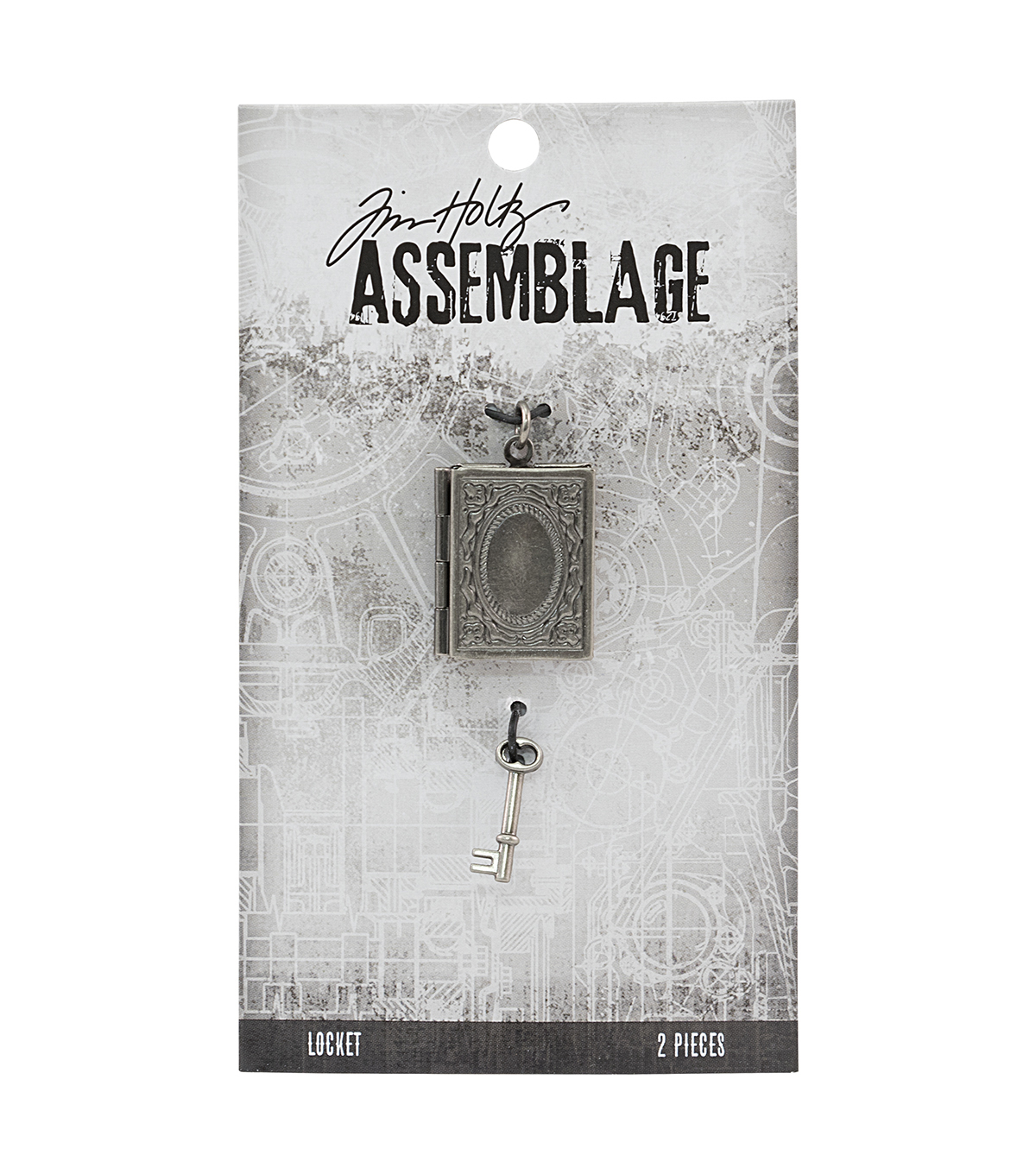 Tim Holtz Assemblage Book & Key Locket Charms