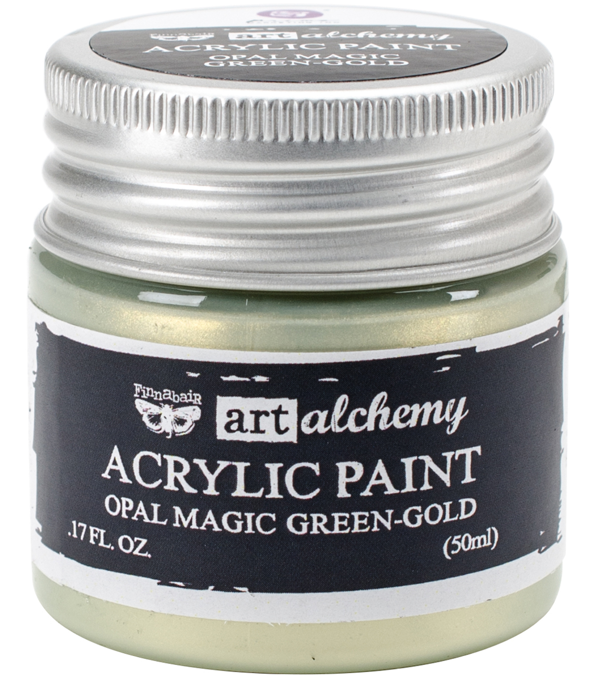 Prima Marketing Art Alchemy Acrylic Paint-Opal Magic Green Gold