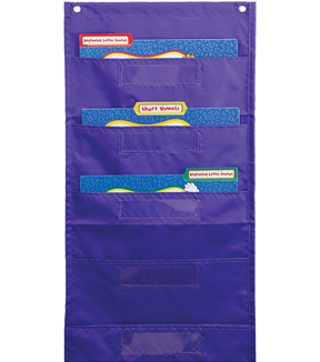File Folder Storage Purple Pocket Chart