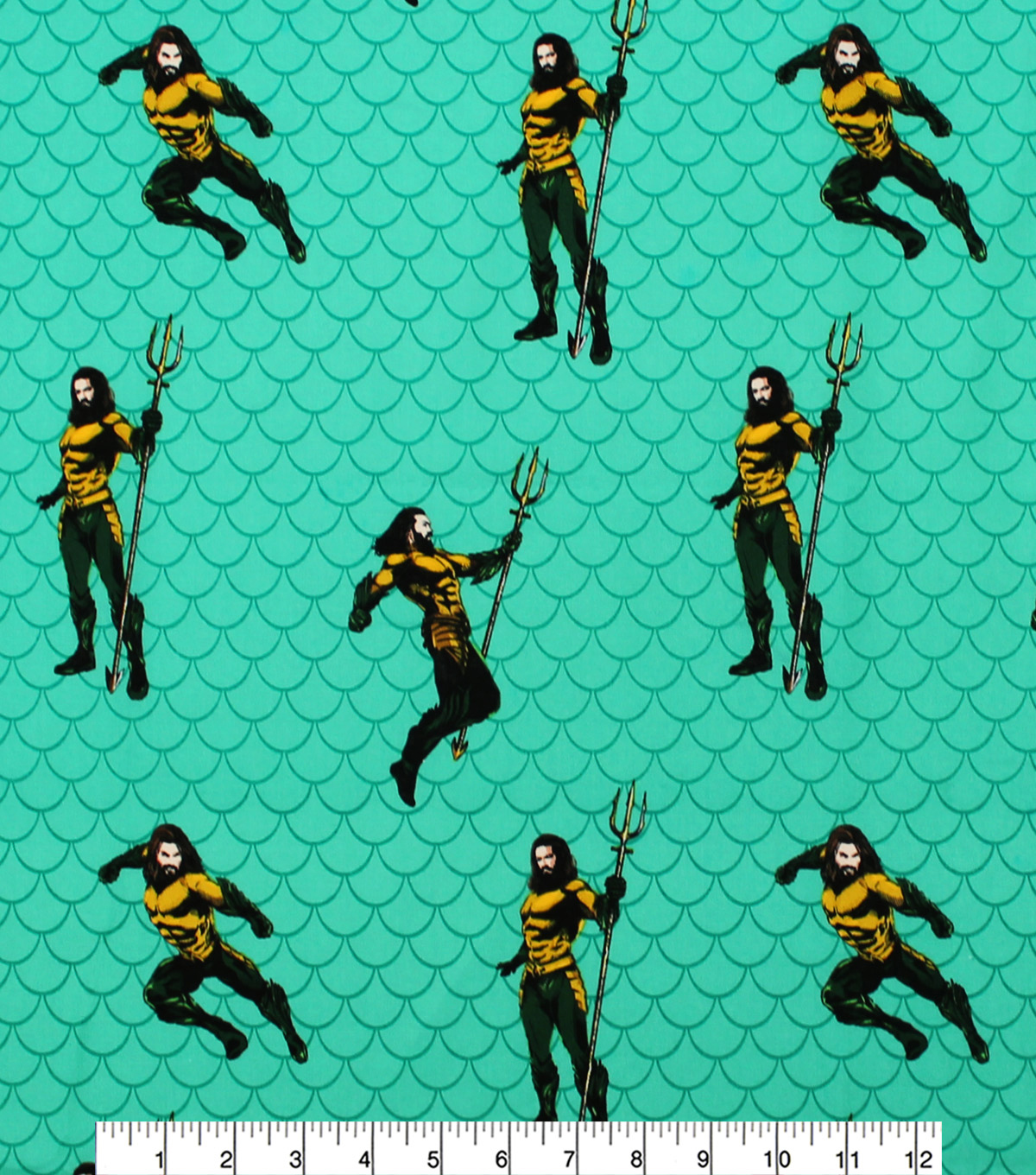 DC Comics Aquaman Cotton Fabric-Poses