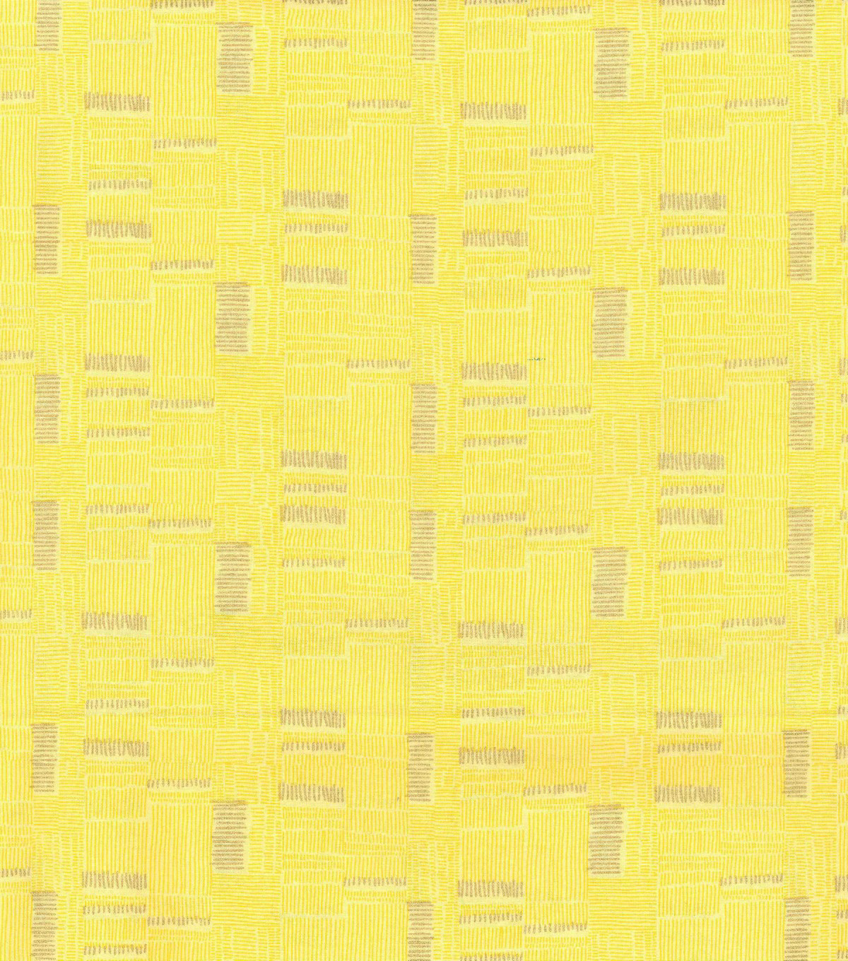 Keepsake Calico Cotton Fabric 43\u0027\u0027-Yellow & Metallic Mini Square Lines