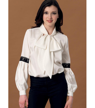 McCall\u0027s Pattern M7436 Misses\u0027 Notch-Neck Tops with Sleeve
