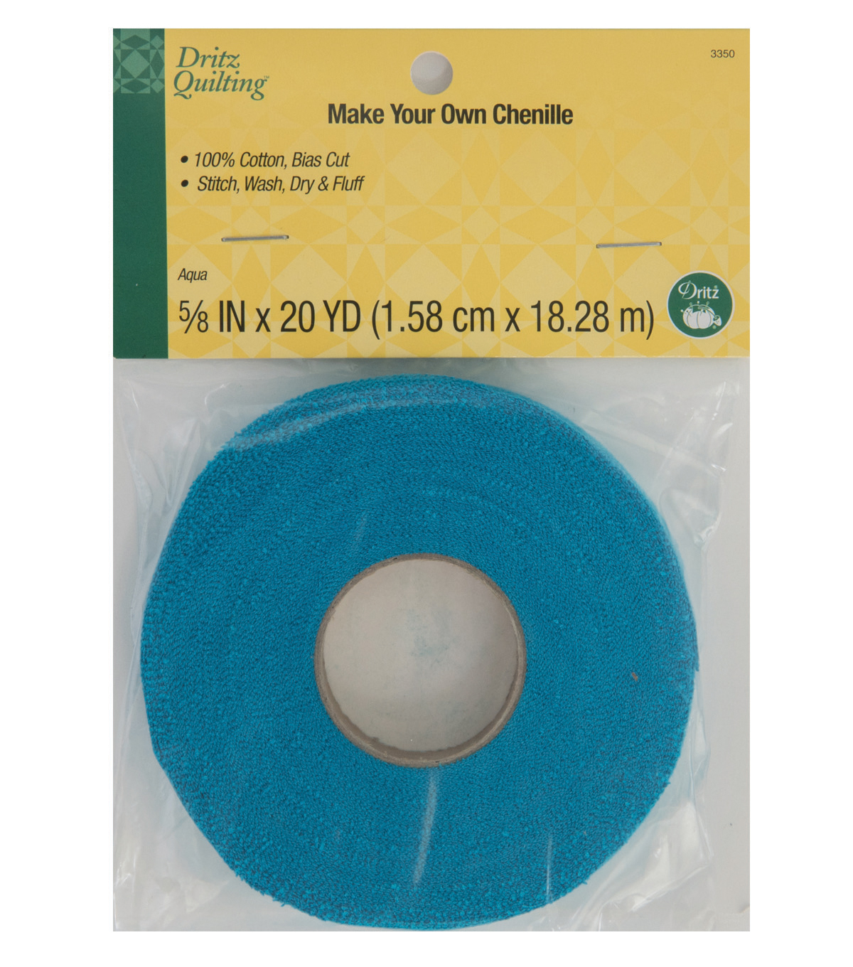 Dritz Quilting Make Your Own Chenille 0.63\u0027\u0027x20 yds-Aqua