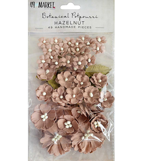49 And Market Botanical Potpourri 49 pk Flowers-Hazelnut
