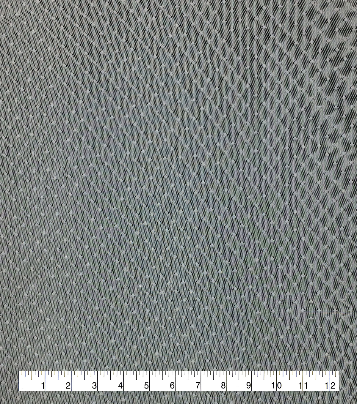 Save the Date Dotted Mesh Fabric-Bright White