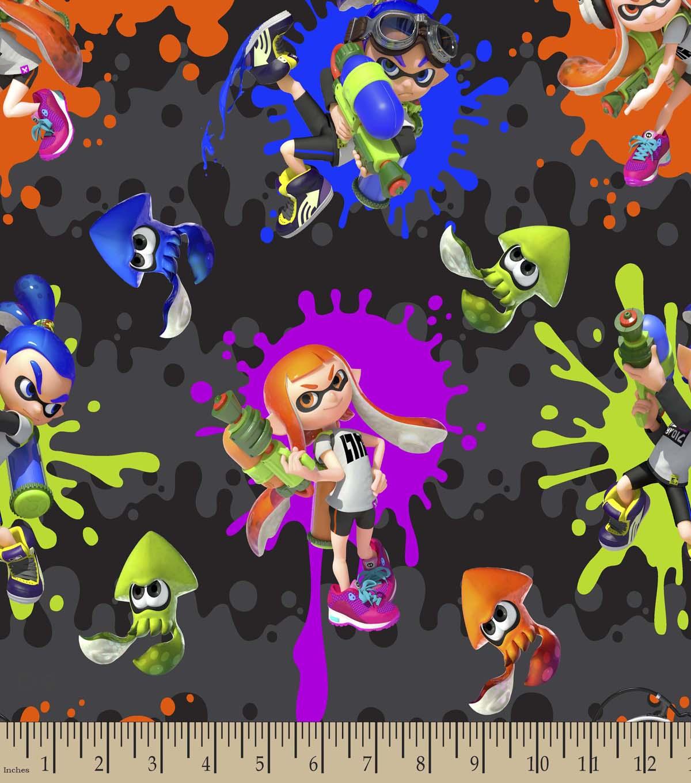 Nintendo Print Fabric-Splatoon Action   JOANN