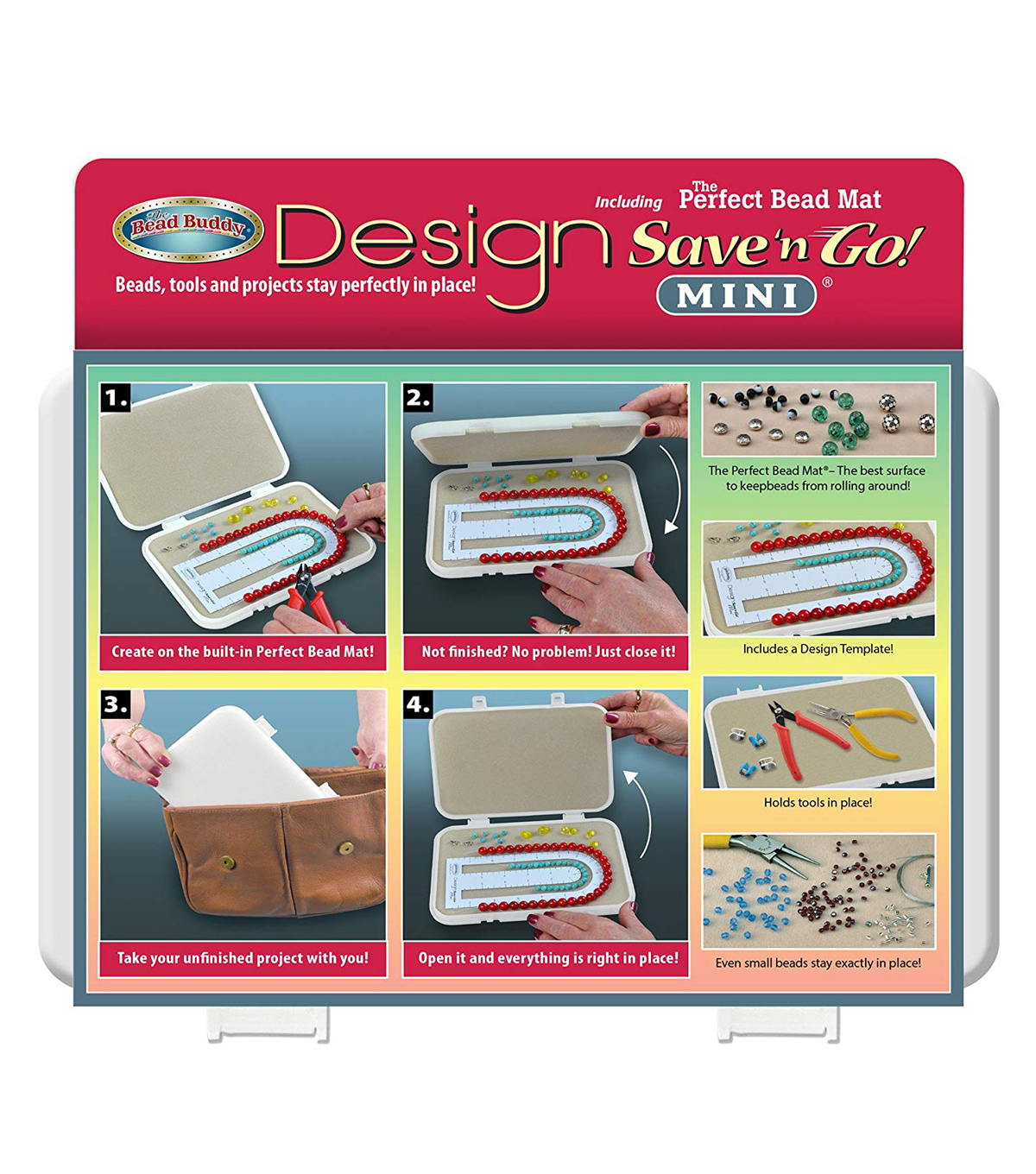 The Bead Buddy Design Mini Save\u0027n Go Bead Mat
