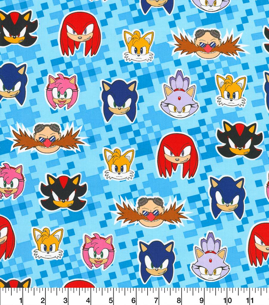 Sonic The Hedgehog Cotton Fabric Friends Joann