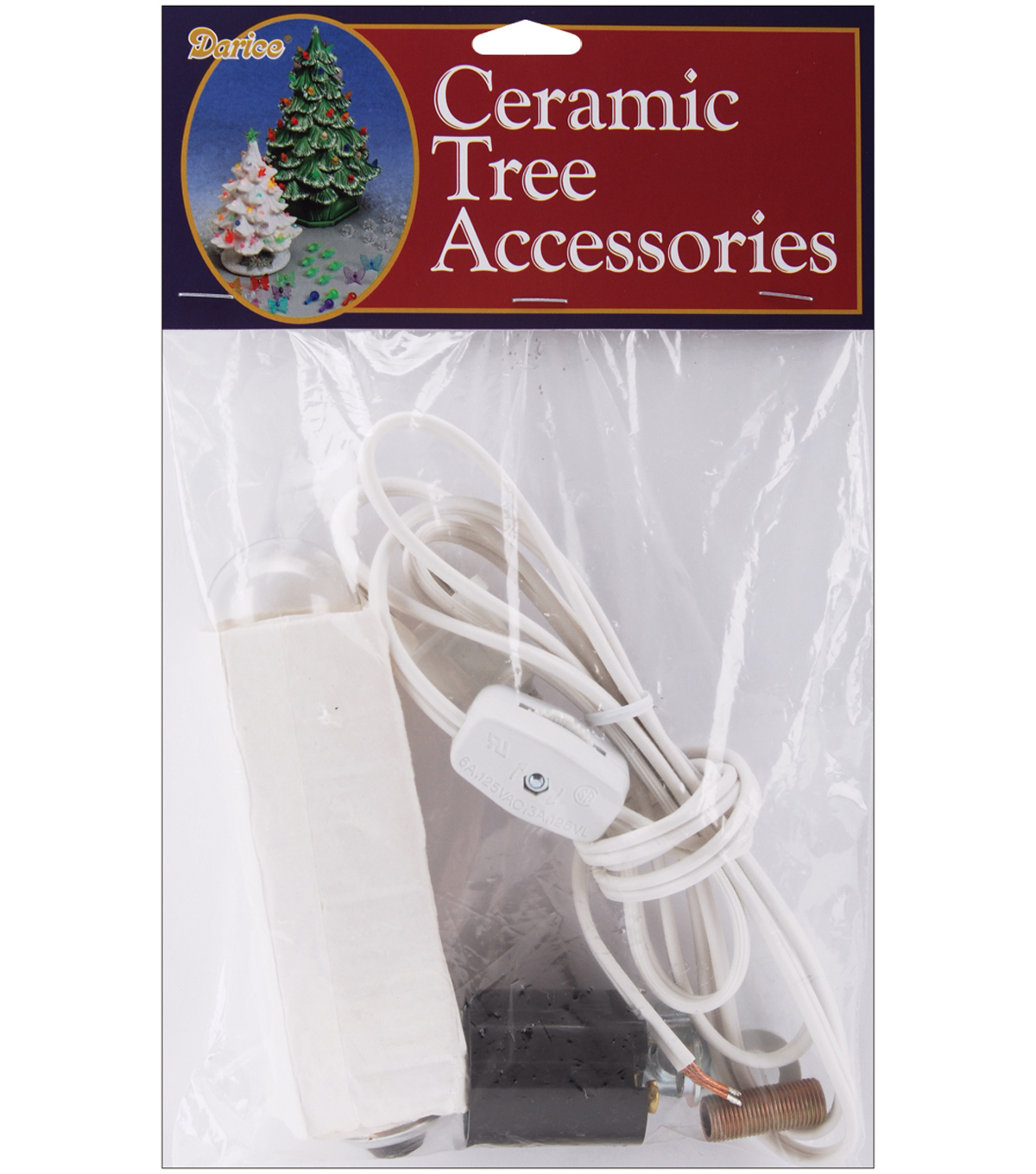 Darice Christmas Ceramic Tree Accessory Lamp Kit