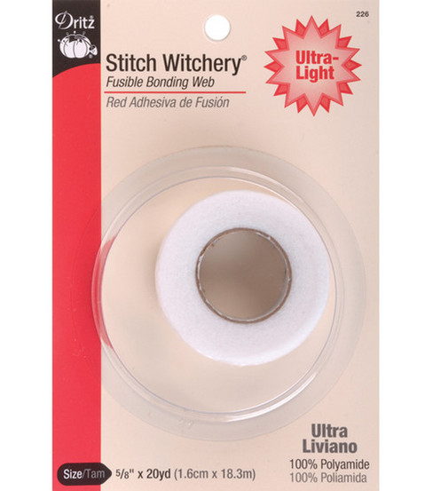 Dritz Stitch Witchery Ultra Lite Tape-5/8\u0022 x 20yd