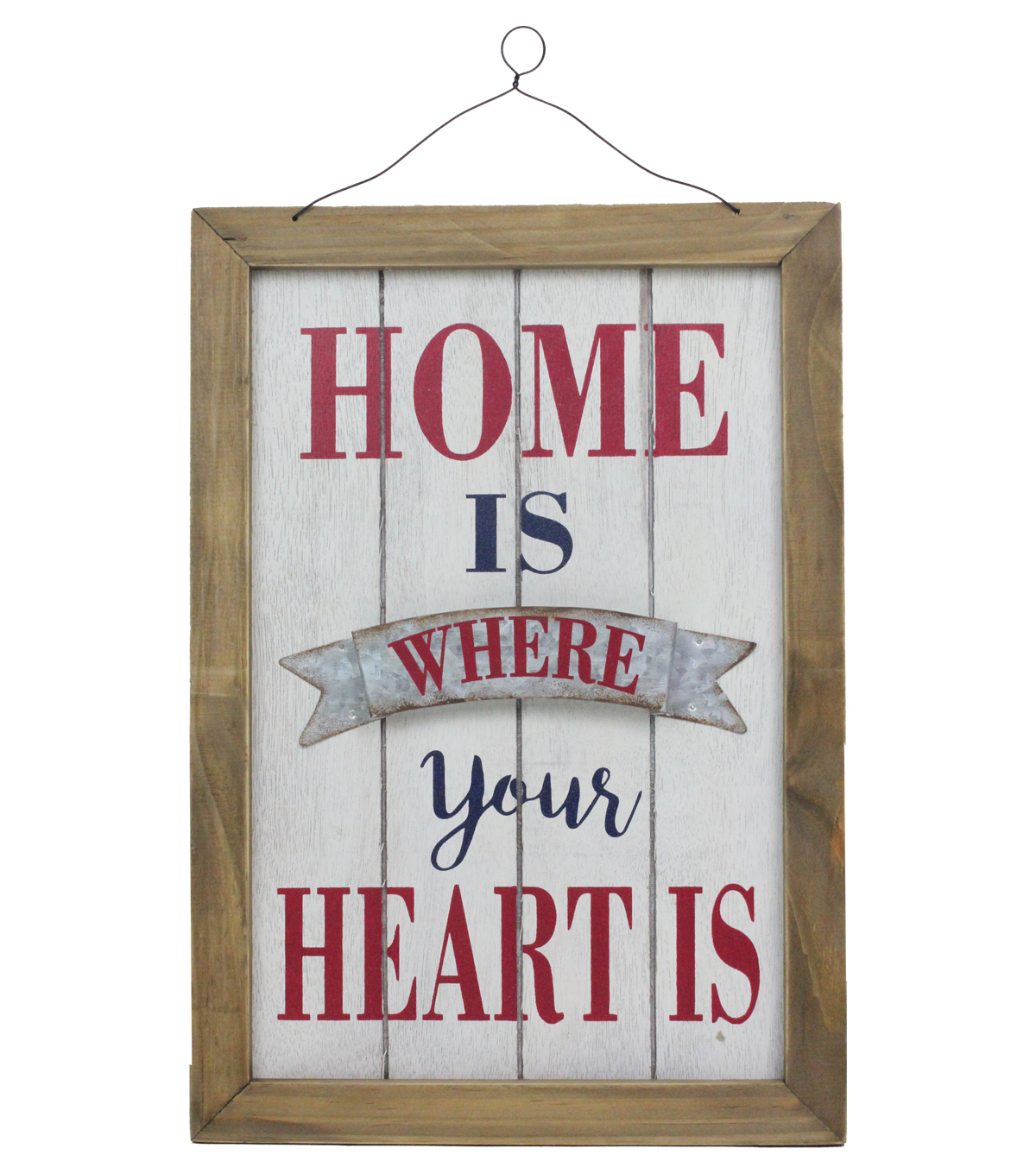 Americana Patriotic Wall Decor-Home is Where Your Heart is