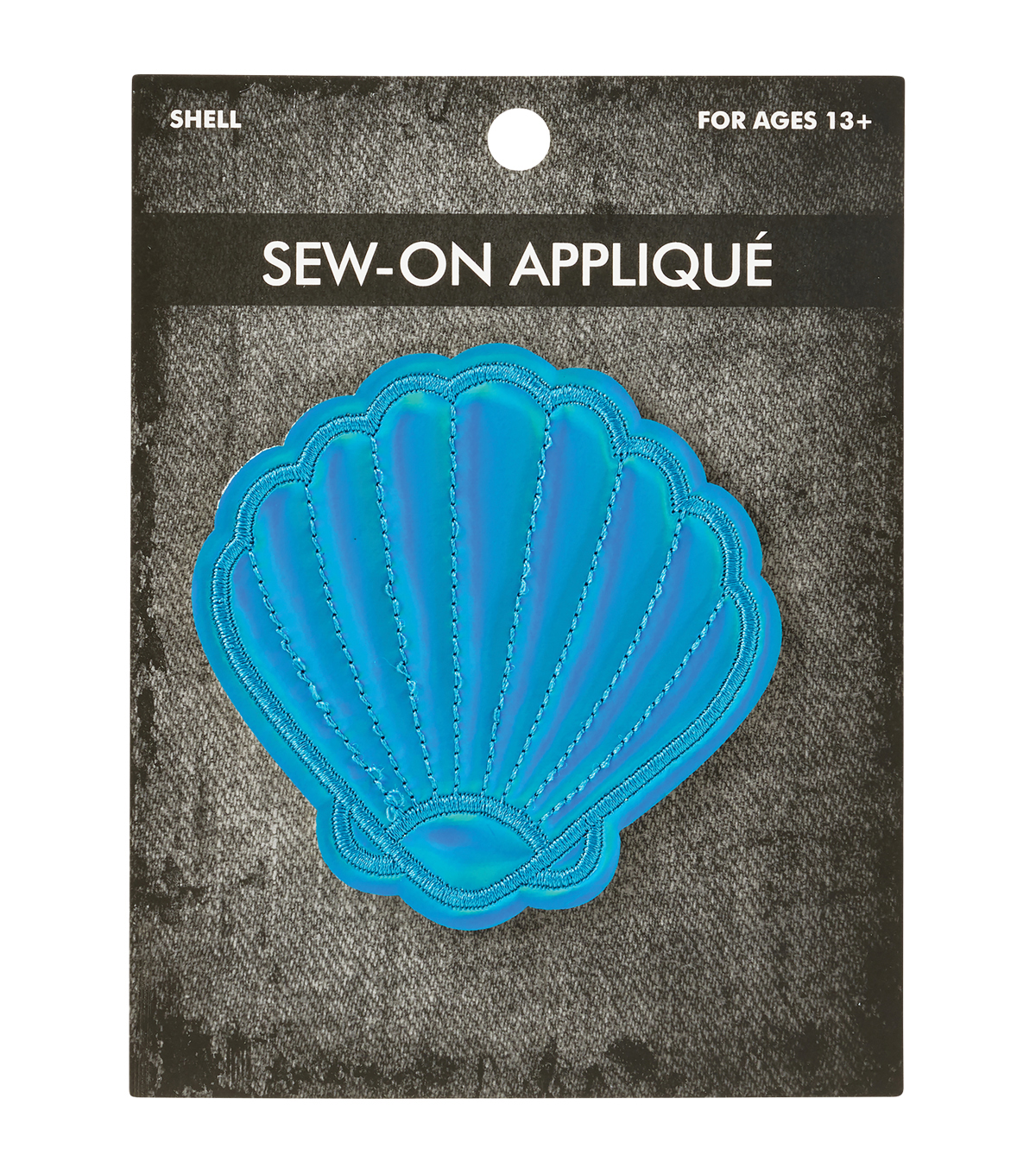Irid Shell Turquoise Applique