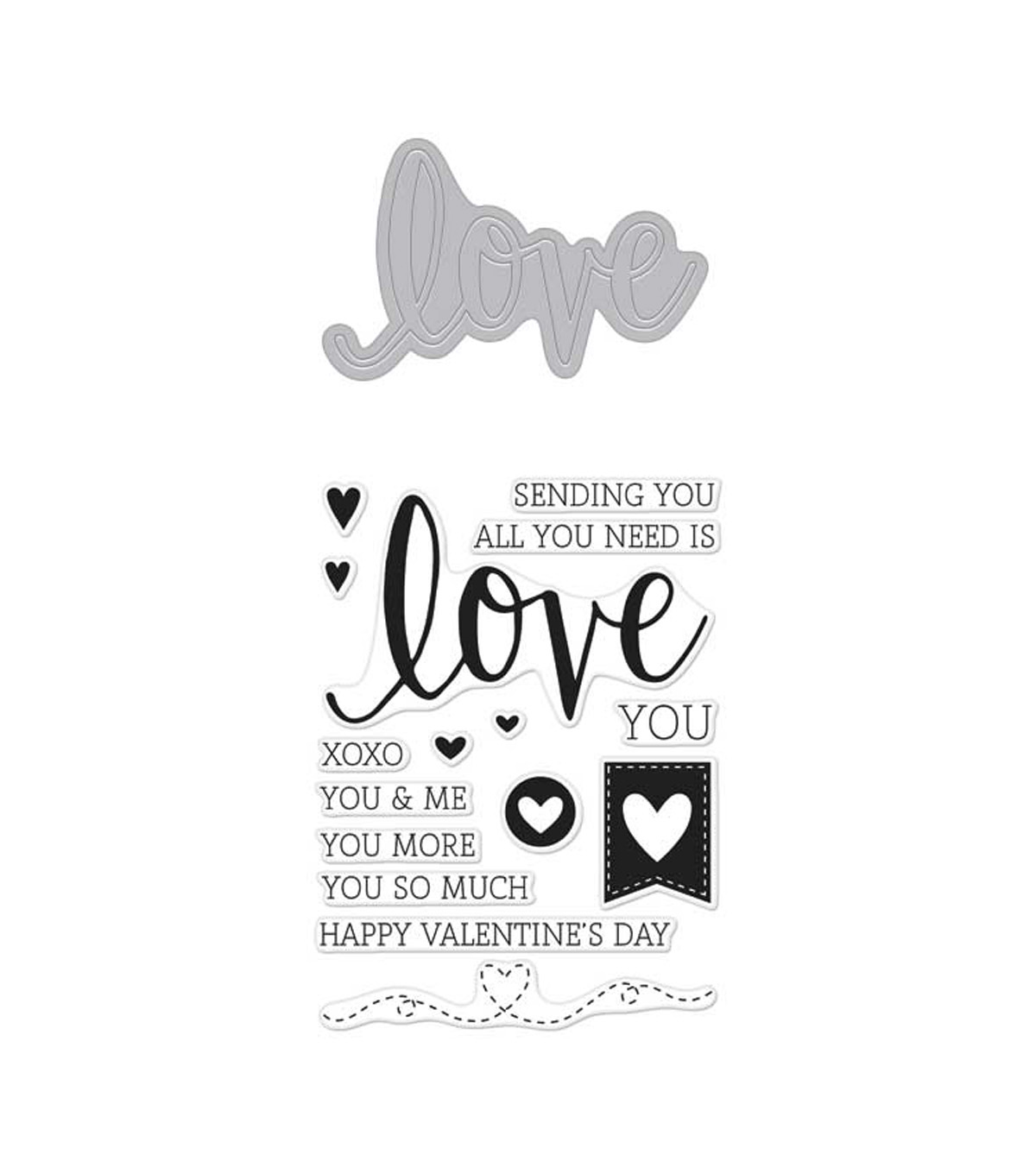 Hero Arts 3\u0027\u0027x4\u0027\u0027 Stamp & Cuts-Love